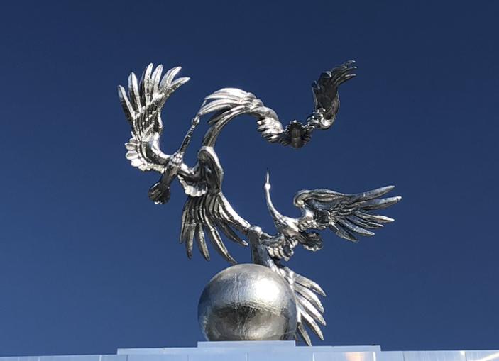 Kraniche in Taschkent